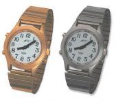 Sprechende Armbanduhr mit Metallzugband