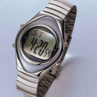 Sprechende Armbanduhr silber oval