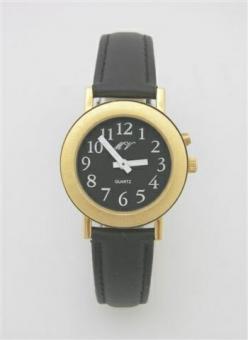 Sprechende Armbanduhr Einknopfbedienung / Lederarmband