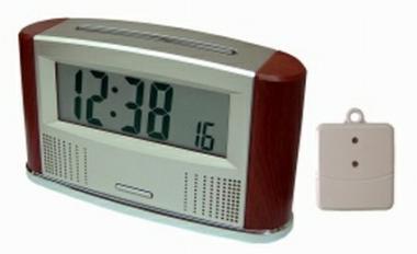 Sprechende Funkweckuhr mit Thermometer