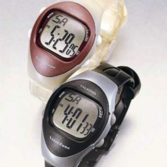 Sprechende Armbanduhr mit 4 Alarmzeiten für Damen flieder