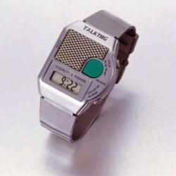 Sprechende Armbanduhr Big Button Metallzugband